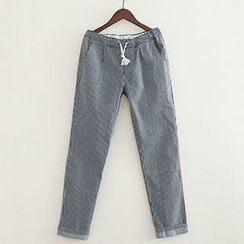 ninna nanna - Drawstring Striped Jeans