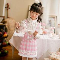 Candy Rain - Kids Check Jumper Skirt