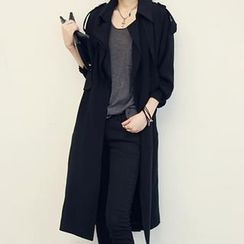 NANING9 - Single-Breasted Trench Coat