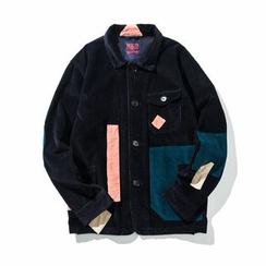 Milioner - 拼接燈芯絨夾棉外套