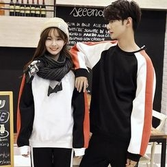 Je T'aime - Couple Matching Raglan Pullover