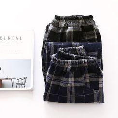 布丁坊 - 束腰格子长裤