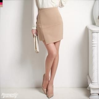 Romantic Factory - Asymmetric-Hem Miniskirt