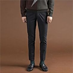 THE COVER - Flat-Front Slim-Fit Pants