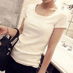 Teemaniac - Plain Short-Sleeve T-shirt