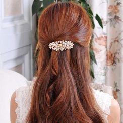 Missy Missy - Faux-Pearl Rhinestone Hair Clip