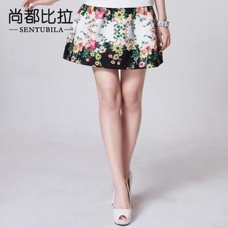 Sentubila - Floral A-Line Skirt