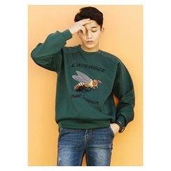 HOTBOOM - Cotton Embroidered Sweatshirt