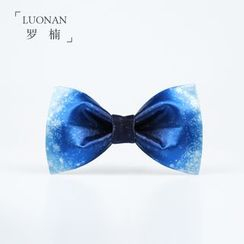 Luonan - Snowflake Print Bow Tie