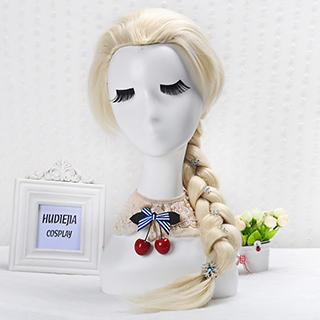 Coshome - Frozen Elsa Cosplay Wig - Braided