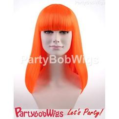Party Wigs - PartyBobWigs - 派对BOB款长假发 - 萤光橙
