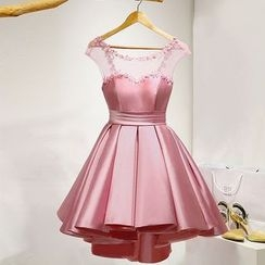 皇家尚品 - 无袖束腰礼服裙