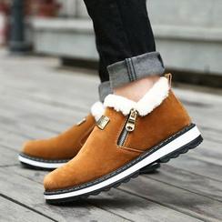 MARTUCCI - Fleece-Trim Loafers