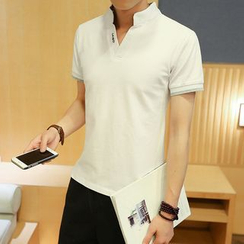 Alvicio - Stand-collar Short-Sleeve T-shirt