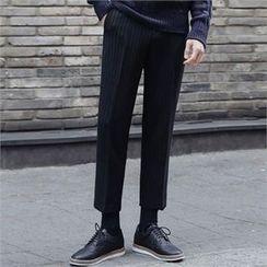 STYLEMAN - Flat-Front Dress Pants