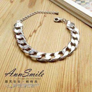 AnnSmile - Sliver-Medal Bracelet