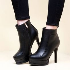 Monde - Heeled Ankle Boots