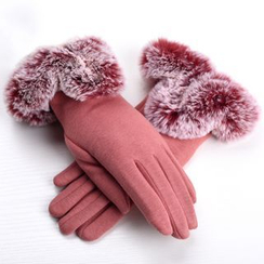 RGLT Scarves - Faux-Fur Trim Gloves