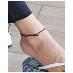 Miss21 Korea - Coin-Charm Braided Anklet