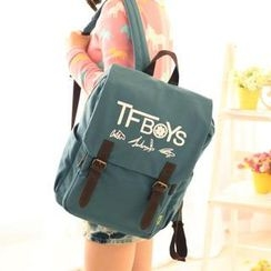 Canvas Love - Double Buckled Canvas Backpack