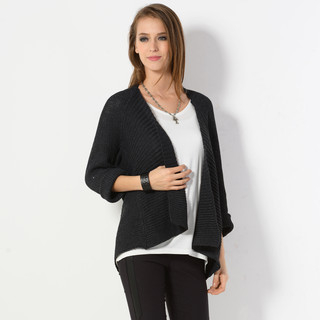 59 Seconds - Batwing-Sleeve Open-Front Cardigan