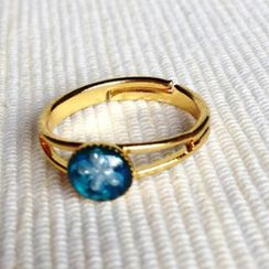 MyLittleThing - Resin Little Snowflake Ring (Blue)