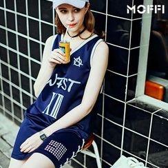 MOFFI - Lace-Up Tank Dress
