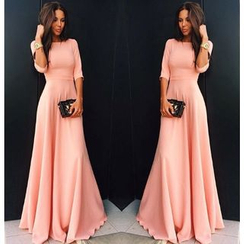 Fundae - 3/4-Sleeve Maxi Dress