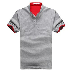 Fireon - Contrast Trim Short-Sleeve Polo Shirt