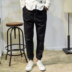Dubel - Drawstring-Waist Cotton Pants