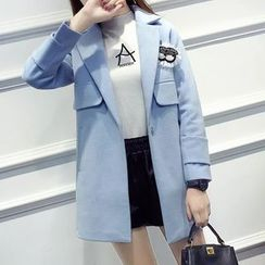 Angel Love - Eyes Brooch Notch Lapel Coat