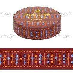 Aimez le style - Aimez le style Masking Tape Primaute Regular Bohemian Pattern