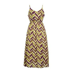 Flore - Chevron Chiffon Sundress