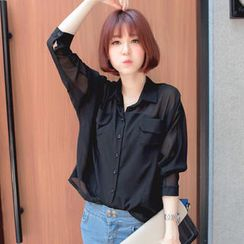 Tokyo Fashion - Dolman-Sleeve Chiffon Shirt