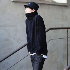TOMONARI - Turtle-Neck Fleece Pullover