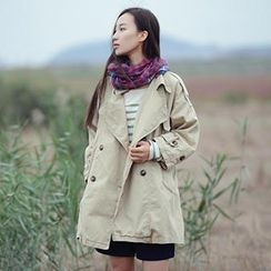 SMOD - Double-Breasted Trench Coat