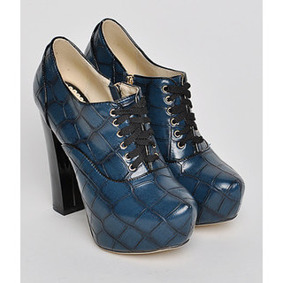 yeswalker - Croc-Embossed Lace-Up Shoe Boots