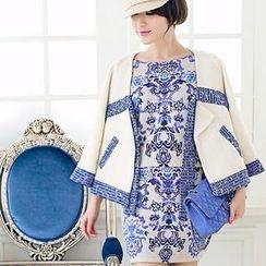 Ringnor - Set: Patterned Sweater + Pencil Skirt