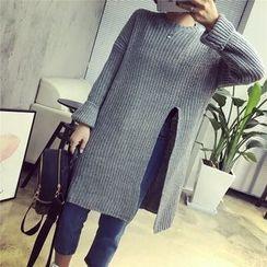 QZ Lady - Slit Long Sweater