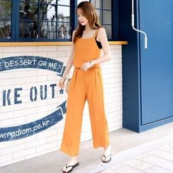 DEEPNY - Set: Sleeveless Linen Top + Wide-Leg Pants