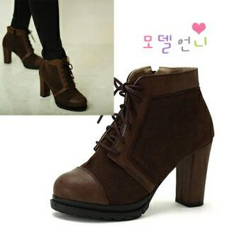 MODELSIS - Platform Lace-Up Boots