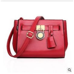 LineShow - Lock Accent Shoulder Bag