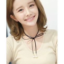 Miss21 Korea - Faux-Suede String Necklace
