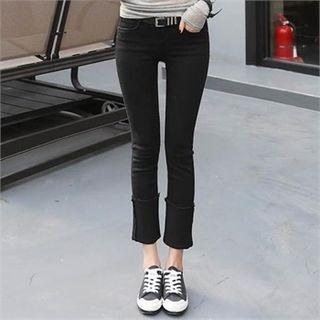 CHICFOX - Plain Boot-Cut Pants