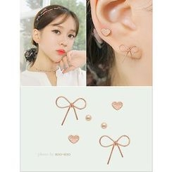 soo n soo - Set of 6: Stud Earrings