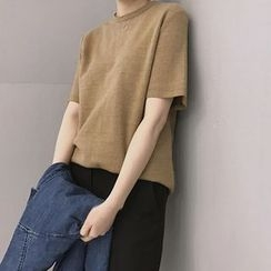 Bloombloom - Short-Sleeve Plain T-Shirt