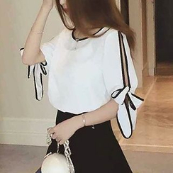 QZ Lady - Split Sleeve Chiffon Blouse