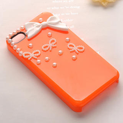 Fit-to-Kill - Pearl Little Bowknot iPhone 4/4s Case