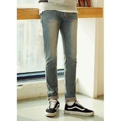 JOGUNSHOP - Washed Slim-Fit Jeans