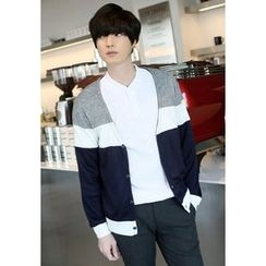 PLAYS - V-Neck Color-Block Cardigan